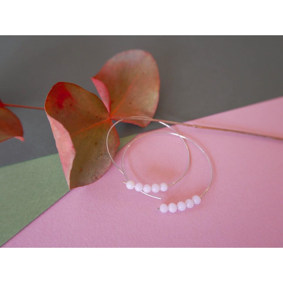 Créole aux opales roses